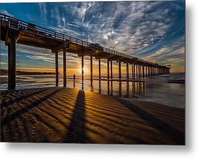 Reflection And Shadow Metal Print by Peter Tellone