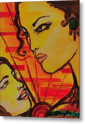 Reflection At Dawn Metal Print by Arianne Lequay