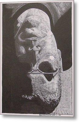 Reflection Metal Print by Denis Gloudeman