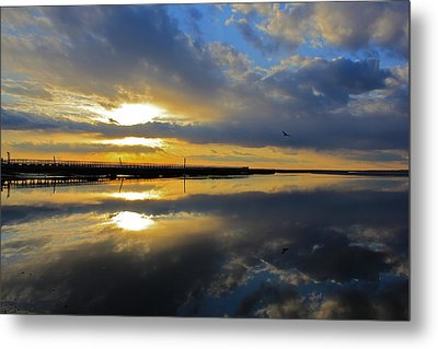 Metal Print featuring the photograph Reflection Grays Beach Boardwalk by Amazing Jules