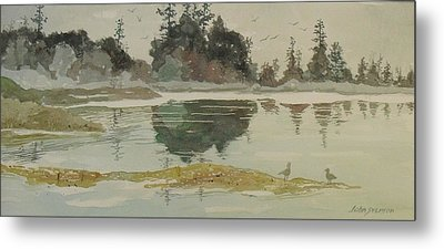 Metal Print featuring the painting Reflection by John  Svenson