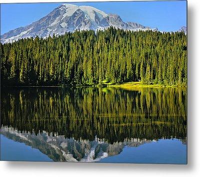 Reflection Lake Mount Rainier Metal Print
