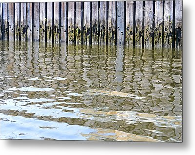 Reflection Of Fence  Metal Print by Sonali Gangane