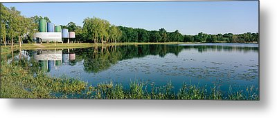 Reflection Of Trees In Water, Warner Metal Print by Panoramic Images