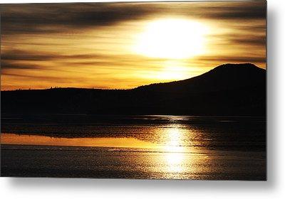 Reflection On Lake Klamath Metal Print