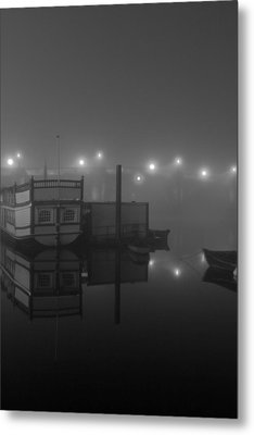 Reflection On Misty Thames  Metal Print