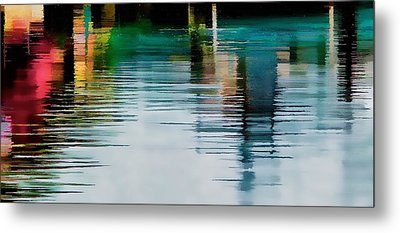 Metal Print featuring the photograph Reflection On The River by Pamela Blizzard