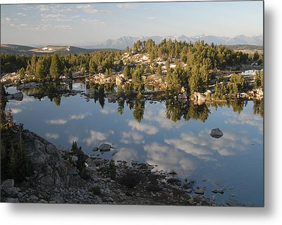 Reflection Pool Near Beartooth Metal Print by Larry Moloney