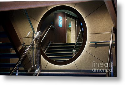 Reflection Stair Metal Print