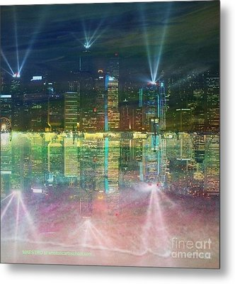 Reflection Water Skyline Metal Print by PainterArtist FIN
