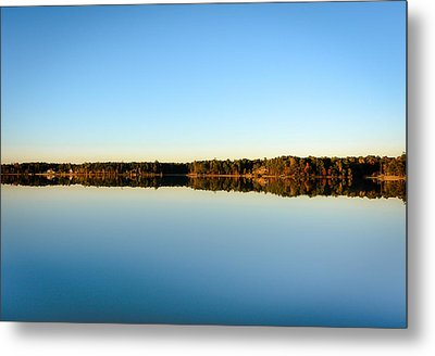 Reflection...lake At Sun Down II Metal Print