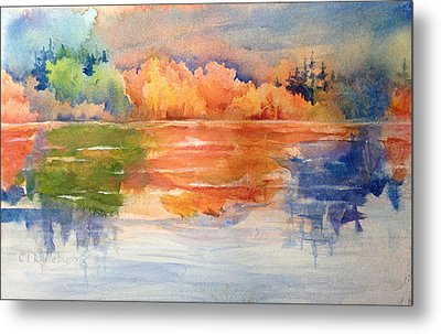 Reflections 1 Near Boulder Metal Print by Cynthia Roudebush