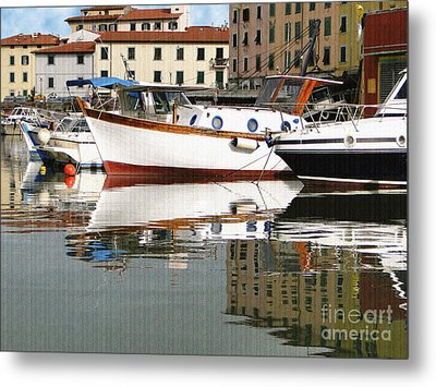 Metal Print featuring the photograph Reflections Along The Canal by Sue Melvin