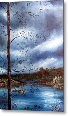 Metal Print featuring the painting Reflections by Anna-maria Dickinson