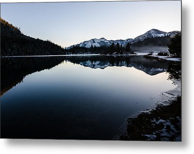 Reflections At Gold Creek Pond Metal Print by Brian Xavier