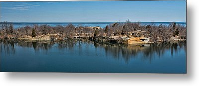Reflections At The Quarry Metal Print