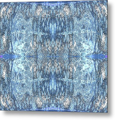 Metal Print featuring the digital art Reflections In Blue by Stephanie Grant