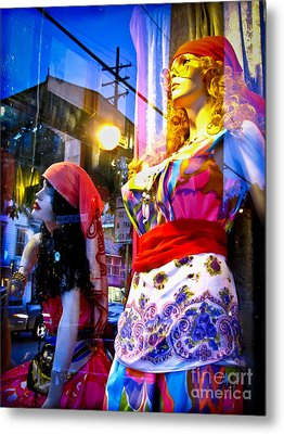 Reflections In The Life Of A Mannequin Metal Print by Colleen Kammerer