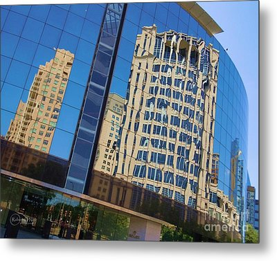 Metal Print featuring the photograph Reflections In The Rolex Bldg. by Robert ONeil