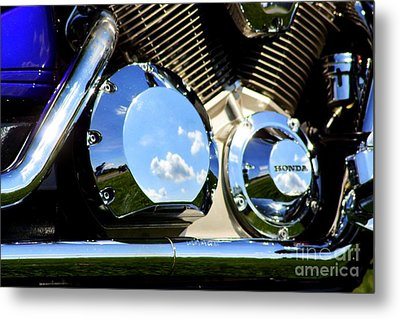Reflections In The V Twin Metal Print by Patti Whitten