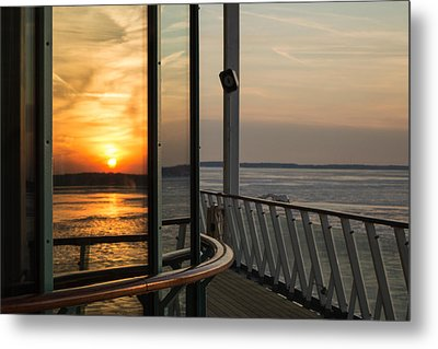 Metal Print featuring the photograph Reflections Of A Chesapeake Sunset by Bill Swartwout