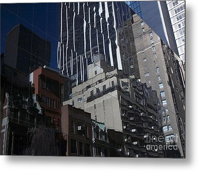 Reflections Of A City Metal Print by Karol Livote