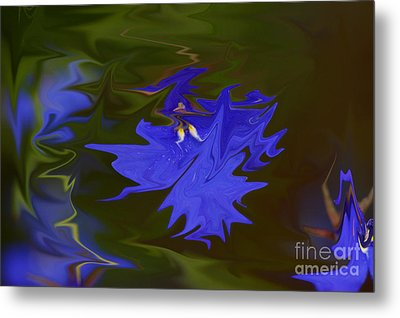 Reflections Of A Flower Metal Print by Carol Lynch
