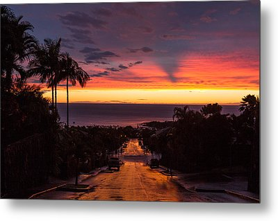 Sunset After Rain Metal Print by Denise Bird