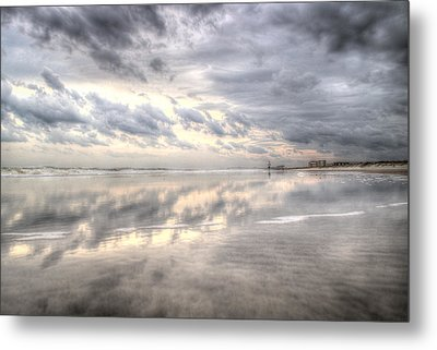 Reflections Of Amelia Island Metal Print by Wade Brooks