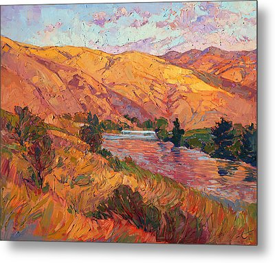 Reflections Of August Metal Print by Erin Hanson