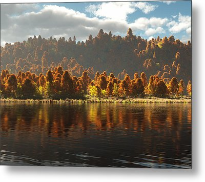 Reflections Of Autumn Metal Print by Melissa Krauss