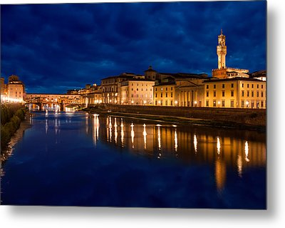 Reflections Of Florence Metal Print by Gurgen Bakhshetsyan