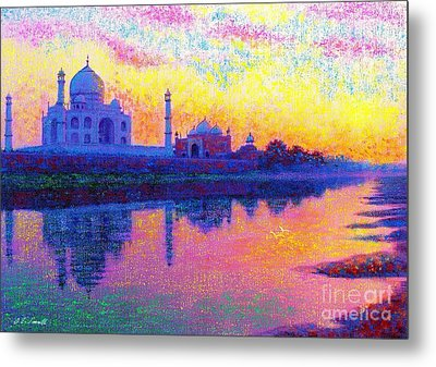 Taj Mahal, Reflections Of India Metal Print