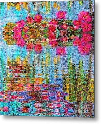 Metal Print featuring the painting Reflections Of Monet by Holly Martinson