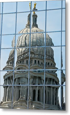 Reflections Of The Capitol Metal Print by Christi Kraft