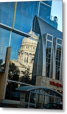 Reflections Of The Capitol Metal Print