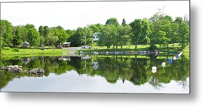 Reflections Of The Landing Metal Print