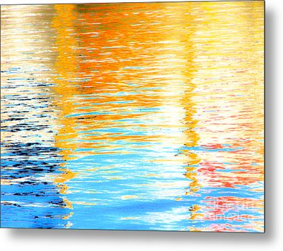 Reflections Of The Setting Sun Metal Print