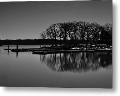 Reflections Of Water Metal Print by Miguel Winterpacht