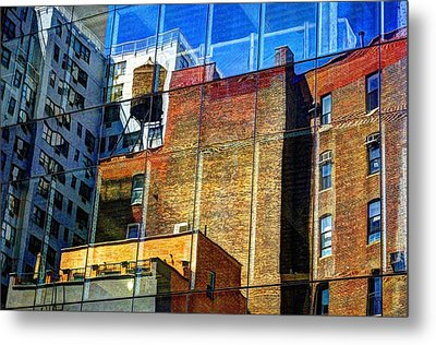 Reflections On 9th Street Metal Print