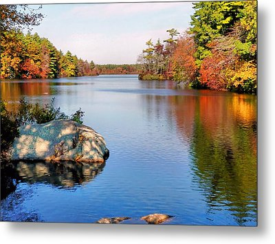 Metal Print featuring the photograph Reflections On A Fall Day by Janice Drew