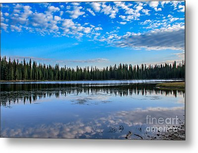 Reflections On Anthony Lake Metal Print by Robert Bales