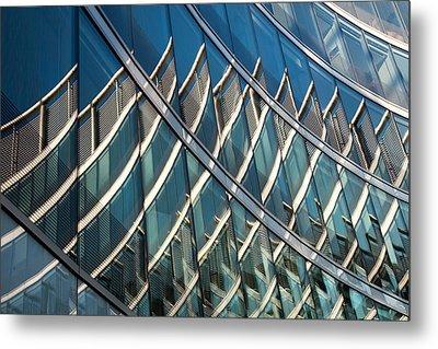 Reflections On Building Windows Metal Print