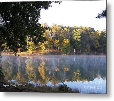 Reflections On Lake Lanier Metal Print by Angelia Hodges Clay