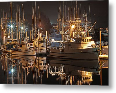 Reflections On The Bay Metal Print by Kim Mobley