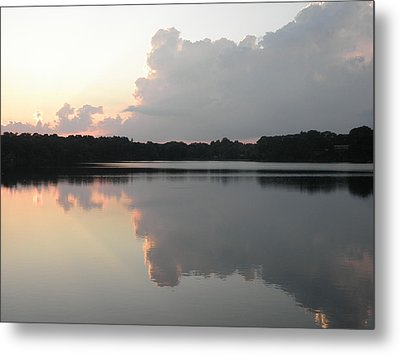 Reflections On The Pond Metal Print by Kate Gallagher