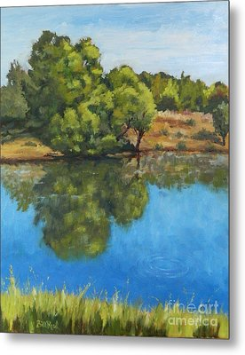Reflections On The River Metal Print by William Reed