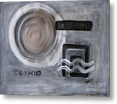 Reflections On Time 1 Metal Print by Eva-Maria Becker