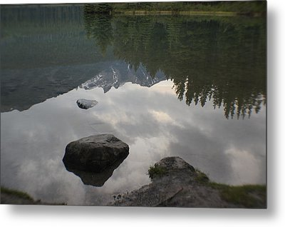 Reflections Two Jacks Lake Metal Print