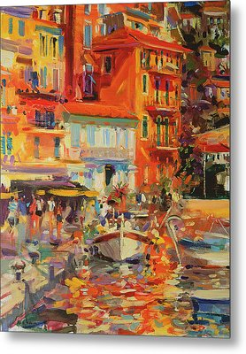 Reflections - Villefranche Metal Print